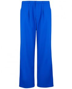 Trousers, £48, Atterley Road. A loose fit style, these relaxed wide leg trousers are cut from a heavy crepe material. In understated cobalt blue they have a concealed zip and hook front fastening, soft front pleats and side pockets.