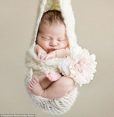 Cute Baby Photo Idea- Love when there's a pic of a baby in a net like this.... so adorable / precious!
