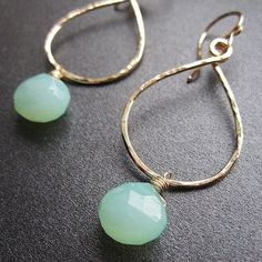 Custom Made turquoise earrings by Calico Juno Designs