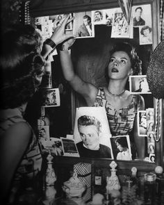 Natalie Wood in her dressing room after the loss of her friend James Dean - 1955