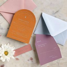 Mar 2020 - Bold spring colors for wedding stationery set Wedding Stationery Sets, Wedding Invitation Design, Stationery Design, Destination Wedding Themes, Wedding Planning, Event Planning, Wedding Designs, Wedding Trends, Wedding Cards
