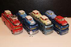 CORGI CAR TRANSPORTER - Morris, Austin, BMC, Mini Cooper, Mini Minor, Austin Seven