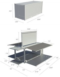 TECHNICAL SPECIFICATIONS  Floor space first level: 480sf Floor space second level: 110sf Total surface: 590sf Weight: 14 000 lbs with 500 lbs of furniture
