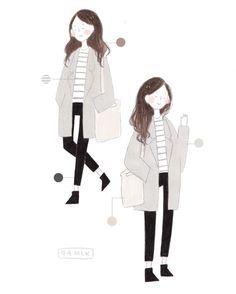 commission for nicole💓 ig: / Japanese Illustration, Cute Illustration, Character Drawing, Character Design, Arte Sketchbook, Cute Art Styles, Dibujos Cute, Korean Art, Aesthetic Drawing