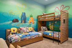 "In 7443 Gathering Ct, Kids will love sleeping next to a ""pineapple under the sea"" in this SpongeBob SquarePants-themed bedroom"