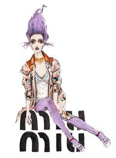 Illustrator of The Week – Natalia Jheté Yves Saint Laurent, Princess Zelda, Anime, Fashion Design, Fictional Characters, Vintage, Miu Miu, Magazine, Illustrations