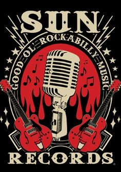"""Celebrate the rockabilly lifestyle & music with the Sun Records Rockabilly Music Tee! This soft cotton slim cut shirt features a mic and guitar design with the phrase """"Good Ol' Rockabilly Music"""" on the front. Available in Black & Red & made in the USA"""