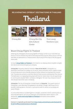 Thailand - Rejuvenating Offbeat Destinations in Thailand by Adrian Pye Elephant Ride, Travel Flights, Vientiane, Air Tickets, Thailand Travel, Continents, Adventure, City, Places