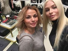 """Posted by Dr. Olga Rojdestvenskaia - """"Today, together with Alena #missalena.92 choosing shoes #vitacciofficial #olga_rojdestvenskaia #poliklinikou #vitacciparty2016 #аленашишкова #germanyprivate """""""