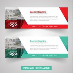 Red & Green Web Banner Vector Design