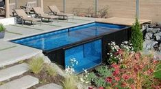 Top 20 Shipping Container Home Designs Amazing Swimming Pools, Swimming Pool Designs, Indoor Swimming, Awesome Pools, Mod Pool, Shipping Container Swimming Pool, Shipping Container Home Designs, Shipping Containers, Shipping Container Buildings