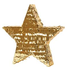 Our Foil Gold Star Pinata adds a twinkly touch to your party! Foil Gold Star Pinata features a classic star shaped covered in metallic gold foil fringe. Golden Birthday Parties, Gold Birthday Party, Birthday Ideas, Golden Birthday Themes, Birthday Pinata, Gold Party, Happy Birthday, Star Pinata, Pinata Party