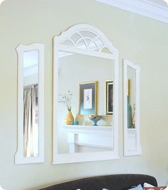 My next headbord...my old mirror is about to be dug out of storage!!  Orange perhaps...