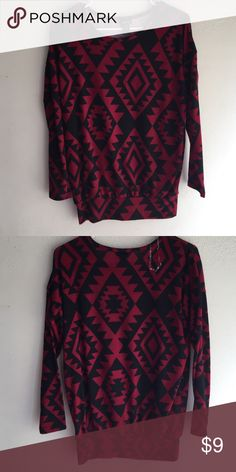Sweater Tribal sweater , long sleeves with tapered waist. Never worn , no holes , stains or stretching out! Rue 21 Sweaters Crew & Scoop Necks