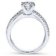 Morgan 14k White Gold Round Twisted Engagement Ring angle 2
