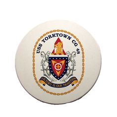 USS Yorktown Sandstone Coaster now available! This beautiful Navy Service Coaster is a must-have. Full color design custom baked into the stone for long lasting color; cork bottom to prevent table scratching; strong, durable & absorbent for all types of drink ware.