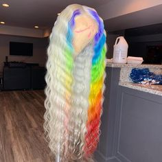 Hairstyles For Women Black Baddie Hairstyles, Weave Hairstyles, Rainbow Hairstyles, Lace Front Wigs, Lace Wigs, Rainbow Wig, Beautiful Hair Color, Hair Laid, Lace Hair