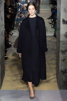 Valentino   Long dress and oversized coat ss14 maison Valentino Paris ss14