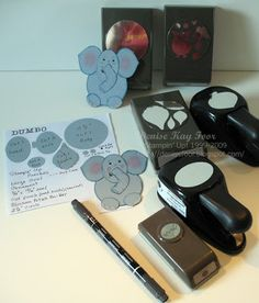 Dumbo Punch Art | Denise Foor Studio PA  complete instructions on blog. Stampin' Up!