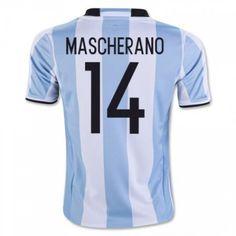 Argentina 2016 Javier Mascherano 14 Hjemmedrakt Kortermet.  http://www.fotballteam.com/argentina-2016-javier-mascherano-14-hjemmedrakt-kortermet.  #fotballdrakter