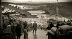Fairview, Dublin 1954 during the floodings.