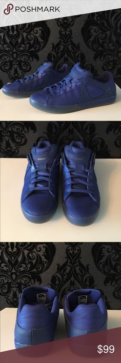 Alexander McQueen x Puma Men's Blue Sneakers US11 Good condition, 2 times worn, elegant blue canvas and leather Alexander McQueen x Puma Shoes Sneakers