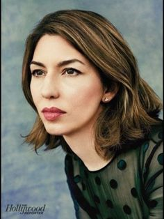 Sofia Coppola: Awesome highlights on dark brunette hair (cute short/mid-length style, too) Sofia Coppola Style, Gia Coppola, Dark Brunette Hair, The Bling Ring, The Hollywood Reporter, People Photography, Looks Style, Cut And Color, Style Icons