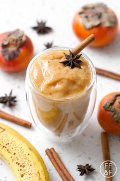 This recipe for Persimmon Chai Smoothie use uses only a few ingredients to create a healthy and delicious drink. Brunch Recipes, Baby Food Recipes, Gourmet Recipes, Healthy Recipes, Vitamix Recipes, Fodmap Recipes, Dairy Free Recipes, Gluten Free, Yummy Drinks
