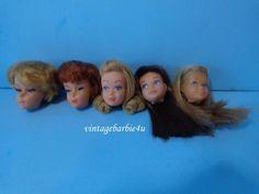 Vintage Barbie Doll Barbie Midge Skipper Head Lot Japan  #Mattel #Clothing