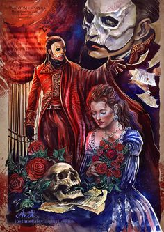 The Phantom Of The Opera by JustAnoR on DeviantArt <<<this is beautiful