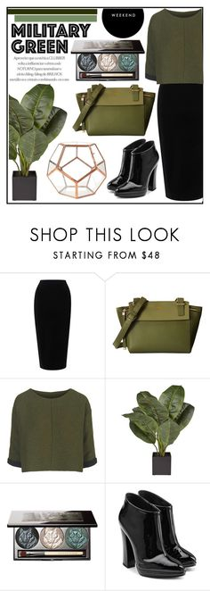 """""""Military Green"""" by misskarolina ❤ liked on Polyvore featuring Tome, Topshop, Chantecaille and Giuseppe Zanotti"""