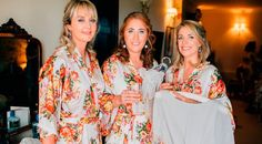 Bride and bridesmaids floral silk robes. Gorgeous getting ready ideas. See more from this big day on thevow.ie