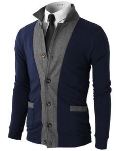 df5c5f8261b H2H Mens Two-tone Herringbone Jacket Cardigans at Amazon Men s Clothing  store  Blazers And