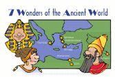 7 wonders- lesson ideas