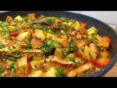 rețetă delicioasă cu carne. 10minute muncă și cina e gata pentru întreaga familie Olesea Slavinski - YouTube Kung Pao Chicken, Paella, Thai Red Curry, Biscuits, Ethnic Recipes, Youtube, One Pot Dinners, Pork, Meat