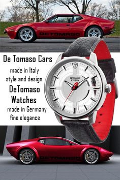 DeTomaso Avisio, an elegant men's watch featuring a stainless steel case with original DeTomaso black leather strap