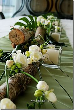 Idea: doesn't have to be expensive to be cute....You will have seasonal greenery/flowers that time of year to work with?