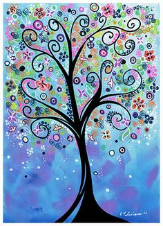 "20 x 30 Fine Art Print Whimsical tree art...""Fairy Dreams"" from my new collection MORE SIZES sur Etsy, 47,43 €"