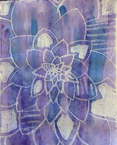 Flower.  Crayon resist. Different Media, Create Image, Flowers, Projects, Art, Craft Art, Floral, Kunst, Gcse Art