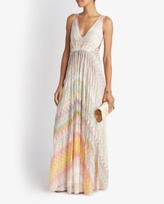 Missoni Cut Out Back Knit Gown available at Intermix