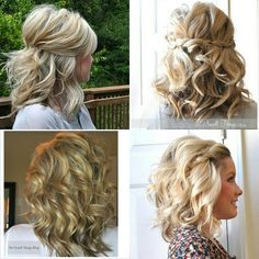 Short-medium curly hairstyles