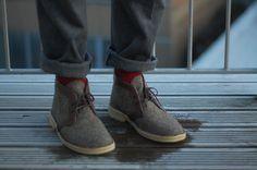 Harris Tweed Clarks Desert Boots