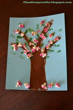 "Jump Into Spring- Cherry ""POP"" Blossoms Artwork - Glued To My Crafts"