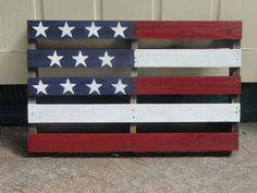 Americana  Flag  Painted Wood Pallet by GrannyTsAttic on Etsy, $20.00