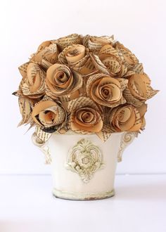 VINTAGE BOOK ROSES Centerpiece /// Treasure Island by HiButterfly, $85.00