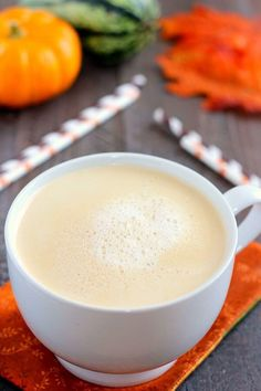 This Salted Caramel Latte is filled with warm flavors and is the perfect drink for when you need your coffee fix. It's easy to whip up and has a fraction of the calories that are found in coffee shop drinks!