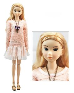 Beautiful Pink Lace Doll Dress Doll Skirt/Momoko Clothes/Blythe Dress/Jenny Doll Dress