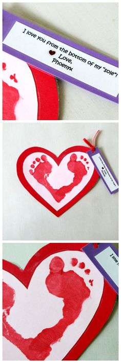 I love you from the bottom of my sole, Valentines Day Craft