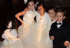 My flower girls and ring bearer.