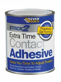 Everbuild Stick 2 Extra Time Contact Adhesive 750ml - http://www.hall-fast.com/fasteners-small-components/adhesives-tapes/adhesives-tape/contact-adhesives/everbuild-stick-2-extra-time-contact-adhesive-750ml/